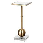 Laton Mirrored End Table