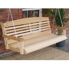 Dyal American Cedar Porch Swing Finish: Natural/Stainless Steel, Size: 24.5