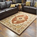 Riche Brown/Beige Area Rug Rug Size: Rectangle 8' x 10'5