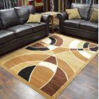 Cosper Beige/Brown Area Rug Rug Size: Rectangle 8' x 10'5