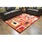 Cosper Burgundy/Beige Area Rug Rug Size: Rectangle 5' x 7'