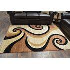 Mccampbell Beige/Black Area Rug Rug Size: Rectangle 3'9? x 5'3