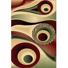 Mccampbell Burgundy/Green Area Rug Rug Size: Rectangle 5' x 7'