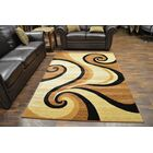 Bella Modern Contemporary Abstract Beige/Brown Area Rug