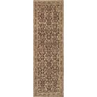 One-of-a-Kind Antique Karabagh Handwoven Wool Brown Indoor Area Rug