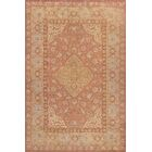 One-of-a-Kind Antique Oushak Handwoven Wool Coral/Beige Indoor Area Rug