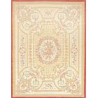 One-of-a-Kind Savonnerie Original European Hand-Knotted Wool Beige Indoor Area Rug
