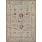 One-of-a-Kind Agra Hand-Knotted Wool Gray Indoor Area Rug