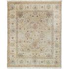 Agra Fine Hand-Knotted Wool Beige Indoor Area Rug