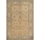 One-of-a-Kind Agra Genuine Hand-Knotted Wool Beige Indoor Area Rug