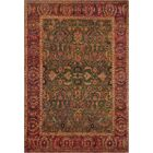One-of-a-Kind Agra Genuine Hand-Knotted Wool Green/Red Indoor Area Rug