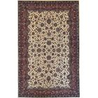 One-of-a-Kind Quality Handwoven Wool Cream Indoor Area Rug