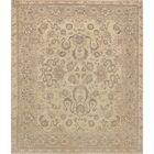 One-of-a-Kind Exceptional Quality Handwoven Wool Khaki Indoor Area Rug