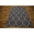 One-of-a-Kind Lam Trellis Oriental Hand-Tufted Wool Navy/Blue Area Rug