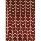 One-of-a-Kind Ayler Trellis Oriental Hand-Knotted Wool Red/Burgundy Area Rug