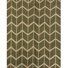 One-of-a-Kind Ayler Trellis Oriental Hand-Knotted Wool Green Area Rug