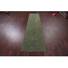 One-of-a-Kind Severine Gabbeh Oriental Hand-Knotted Wool Green Area Rug Rug Size: Runner 2'6