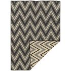 Brooking Hand-Woven Black/Gray Area Rug