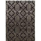 Alica Geo Gray/Black Area Rug Rug Size: Rectangle 8' x 10'
