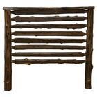 Modern Cedar Log Slat Headboard Size: King