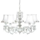 Turret 5-Light Shaded Chandelier Finish: White, Shade: Pearl Bust White