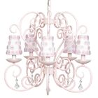 Carriage 5-Light Shaded Chandelier Finish: Pink, Shade: White and Pink Petal Flower