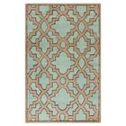 Modern Classics Teal/Light Brown Area Rug Rug Size: Rectangle 5' x 8'