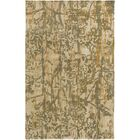 Zephyr Hand-Tufted Green/Brown Area Rug Rug Size: Rectangle 5' x 7'6