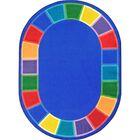 Kid Essentials Blue Indoor/Outdoor Area Rug Rug Size: Oval 7'8