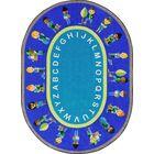 Environmental Helpers Blue/Aqua Area Rug Rug Size: Oval 7'8