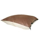 Maya Ultra Sherpa Dog Pillow Color: Poly-Suede Blue with Paw / Blue Berberium, Size: Extra Large (48