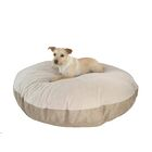 Mulder Round Sherpa Dog Pillow Color: Poly-Suede Tan-Chocolate Berber, Size: Extra Large (52