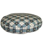 Hermione Round Dog Pillow Color: Brown Plaid, Size: Extra Large (52
