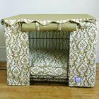 Damask Dog Crate Cover Size: Medium (24