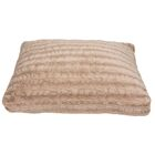 Reagan Faux Fur Dog Pad Color: Brown