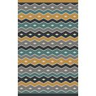 Native Geometric Hand Woven Wool Blue/Gray Area Rug Rug Size: Rectangle 5' x 8'