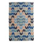 Tulip Hand-Woven Blue Area Rug Rug Size: 10' x 14'