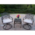 Mississippi 3 Piece Conversation Set with Cushions Fabric: Oak Meal