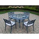 Mississippi 5 Piece Dining Set with Cushions Cushion Fabric: Standard - White