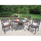 Sunray Tulip 5 Piece Dining Set Cushion: Without