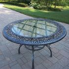 Mississippi Glass Top Aluminum Dining Table Color: Antique Pewter