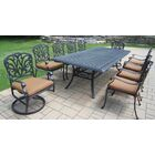 Bosch 11 Piece Dining Set with Cushions Seat Color: Tan