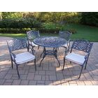 Tea Rose 5 Piece Dining Set with Cushions
