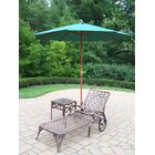 Mississippi 3 Piece Chaise Lounge Set Umbrella Color: Green