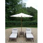 Mississippi 5 Piece Conversation Set with Cushions Umbrella Fabric: White