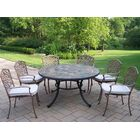 Stone Art 7 Piece Dining Set with Cushions