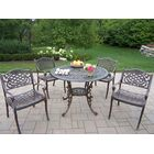 Mississippi 5 Piece Dining Set Finish: Antique Bronze