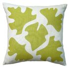 Hand Printed Shade Linen Throw Pillow Color: Yellow