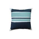 Block Linen Throw Pillow Color: Teal