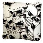 Rectangle Skulls Dog Pillow Size: Medium (30